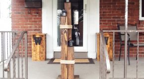 DIY Wood Nautical Lamp Post