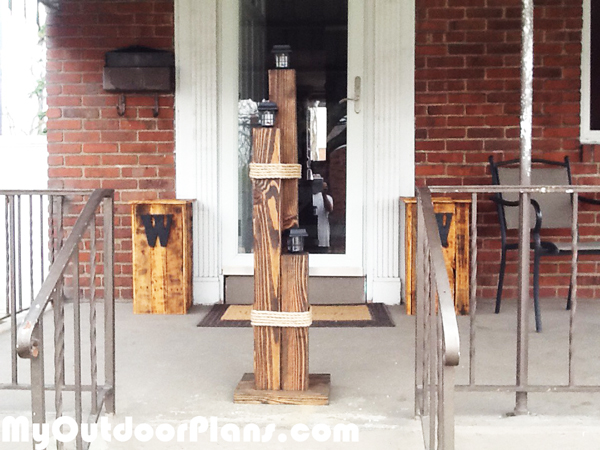 DIY Wood Nautical Lamp Post