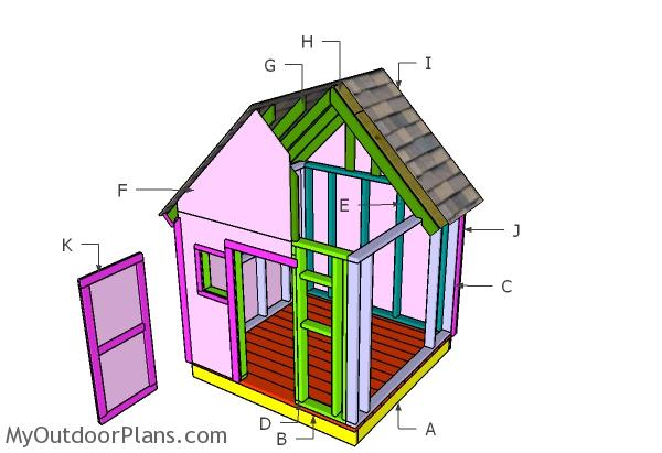 6x6 Simple Playhouse Roof Plans