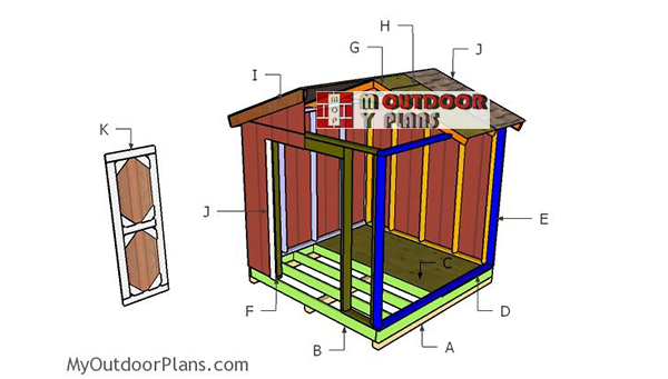 Building-a-small-garden-shed-8x8
