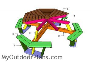 Building an octagonal picnic table plans