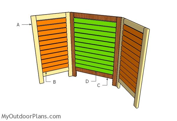 Building an outdoor privacy screen