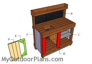 Building potting bench door