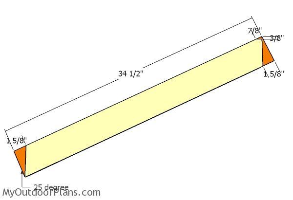 Building the diagonal braces