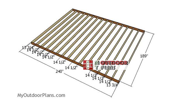 Building-the-floor-frame-16x20