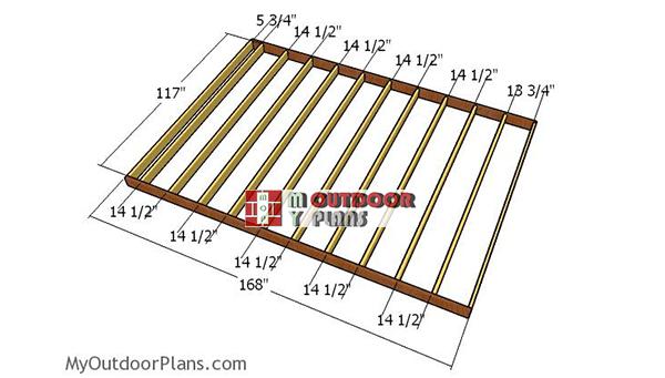 Building-the-floor-frame-shed