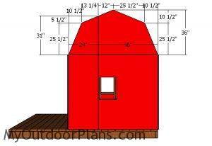 Building the gambrel end panels