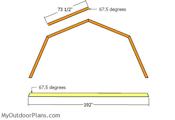 16x24 Gambrel Shed Roof Plans | MyOutdoorPlans | Free Woodworking