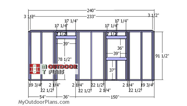 Building-the-side-wall-with-frame-and-door