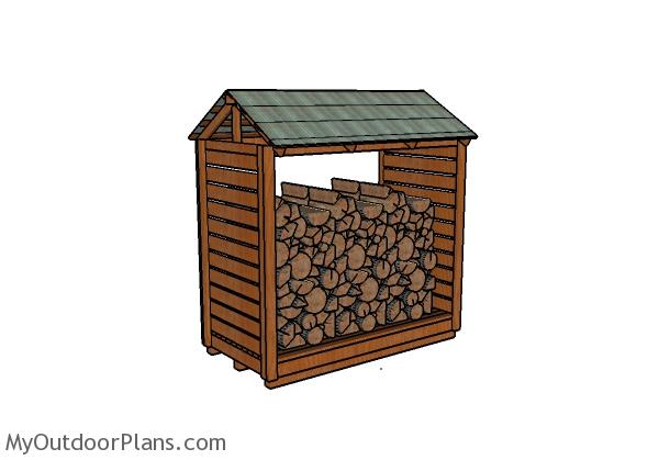 Firewood Shelter Plans | MyOutdoorPlans | Free Woodworking ...