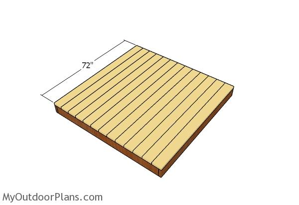Fitting the decking