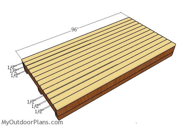 Fitting the floor deck slats