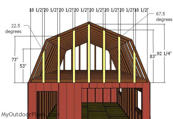 16x24 Gambrel Shed Roof Plans Myoutdoorplans Free Woodworking Plans And Projects Diy Shed Wooden Playhouse Pergola Bbq