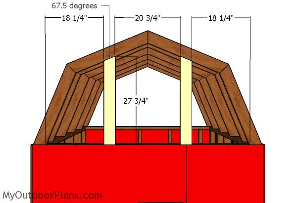 Fitting the gambrel end supports
