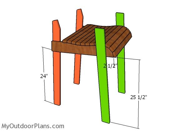 Bar Height Adirondack Chair Plans | MyOutdoorPlans | Free Woodworking ...
