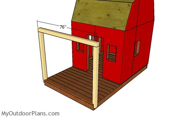 Fitting the porch frame