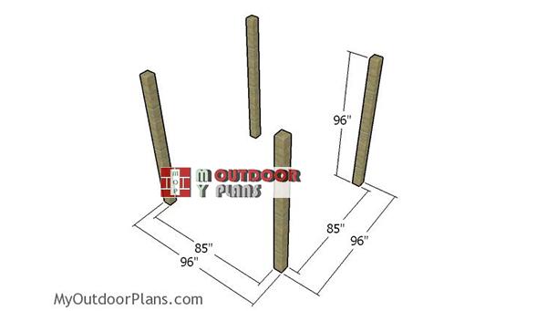Fitting-the-posts---8x8-pergola