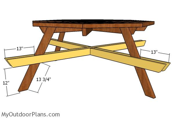 Octagonal Picnic Table Plans Free | MyOutdoorPlans | Free Woodworking ...