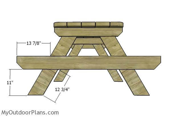 Fitting the seat supports - 6 Foot Picnic Table Plans MyOutdoorPlans Free Woodworking