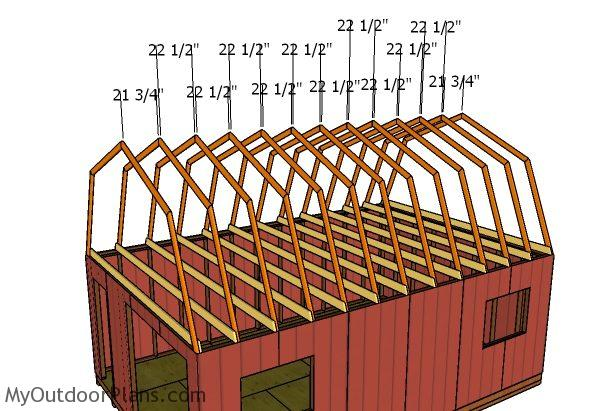 16x24 Gambrel Shed Roof Plans Myoutdoorplans Free