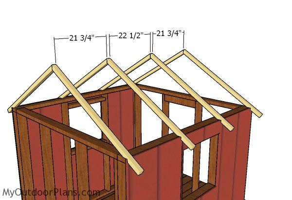 Backyard Playhouse Roof Plans Myoutdoorplans Free