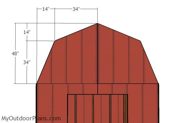 Front and back gambrel panels