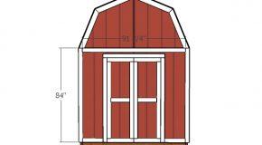 8×10 Gambrel Shed Door Plans