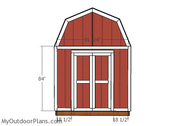 8x10 Gambrel Shed Door Plans
