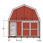 16×24 Gambrel Shed Door and Trims Plans