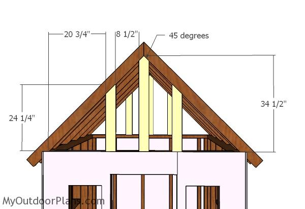 6x6 Simple Playhouse Roof Plans MyOutdoorPlans Free