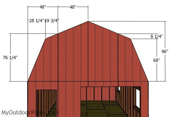 DIY 12x16 Gambrel Shed