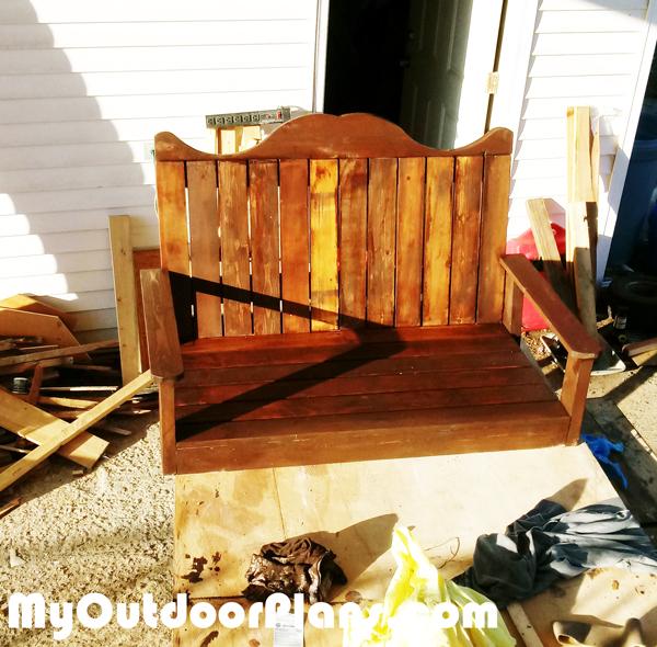 Diy Glider Swing Myoutdoorplans Free Woodworking Plans