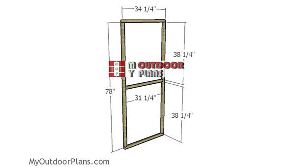 Greenhouse-door-frame