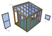 8×10 Lean to Greenhouse Trims Plans
