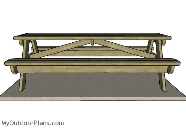 How To Build A 8 Foot Picnic Table