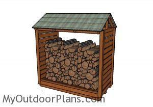 How to build a firewood shelter