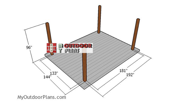 Laying-out-the-posts-for-pavilion