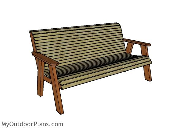 Stupendous Outdoor Bench Plans Free Myoutdoorplans Free Woodworking Creativecarmelina Interior Chair Design Creativecarmelinacom