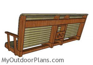 Porch swing plans - Back view