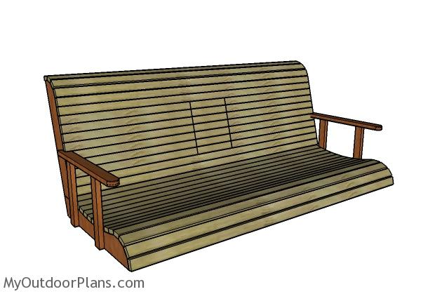 Porch swing with center console Plans
