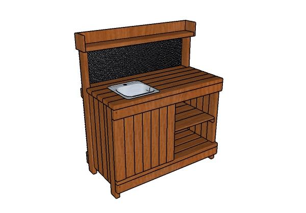 Potting Bench with Sink Plans | MyOutdoorPlans | Free ...