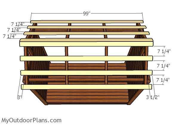Roof support slats