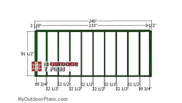 Side-plain-wall-frame