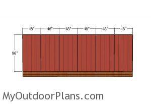 Side wall plain - panels