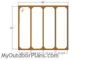 Side walls - Frame