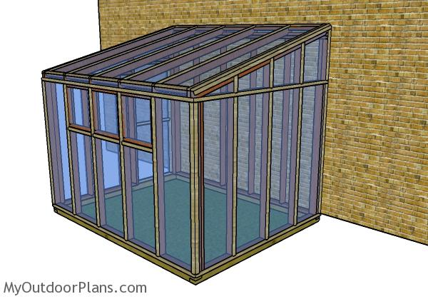 Small lean to greenhouse plans - Back view