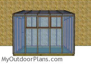 Small lean to greenhouse plans - Side view
