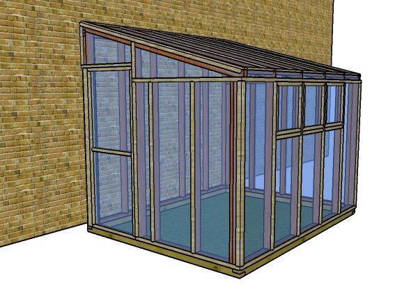 8x10 lean to greenhouse trims plans myoutdoorplans for Lean to plans free
