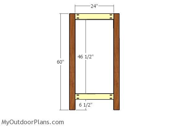 Small panel frame