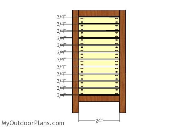 Small panels slats